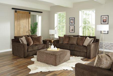 Jackson Midwood Chocolate Sofa & Loveseat