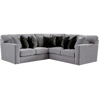 3301 Carlsbad Charcoal 2-Piece Sectional
