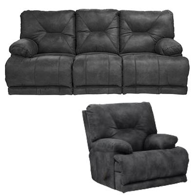 Catnapper Voyager Slate Motion Sofa & Recliner