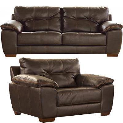 Jackson Hudson Chocolate Sofa & Oversized Chair