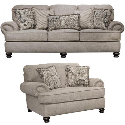 Jackson Freemont Pewter SOFA and CHAIR