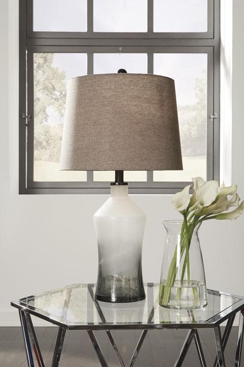 Signature Design Nollie Gray Pair of Lamps