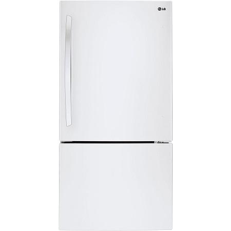 Bottom mount refrigerator white