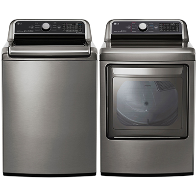 7300 LG Ultimate Top Load Laundry Pair, Graphite