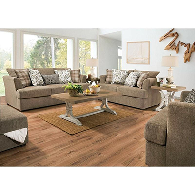 Sophie Taupe Sofa & Swivel Chair