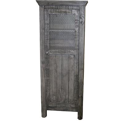 Gray 1 Door Pantry Hutch