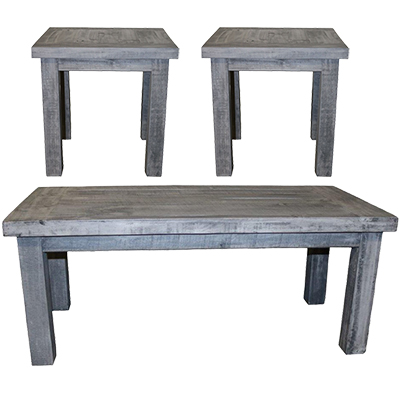Million Dollar Rustic Charcoal Gray 3 Pack Tables