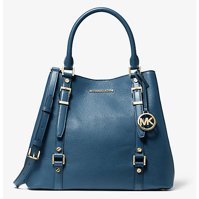 Bedford Legacy Pebbled Leather Large Tote - Dark Chambray