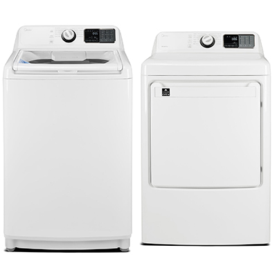 45N1BWW Top Load Washer & Electric Dryer, White