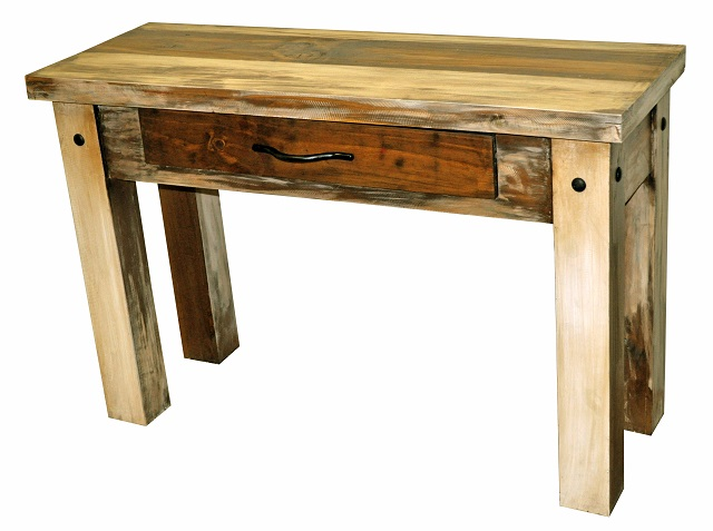 Rent million dollar rustic slatted wood sofa table for 65 sofa table