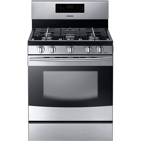 Samsung 5.8 cu. ft. Gas Range with Self-Clean Oven-Stainless Steel