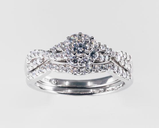 Rent Diamond Bridal Set 10k 3 4cttw More Nice Stuff Rental