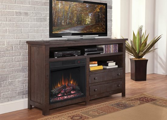 progressive furniture tahoe fireplace rustic mesquite pine - Progressive Furniture