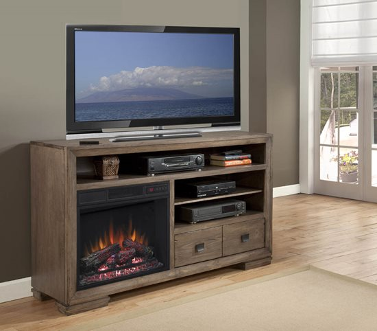 Progressive Furniture Mulholland Fireplace   Antler