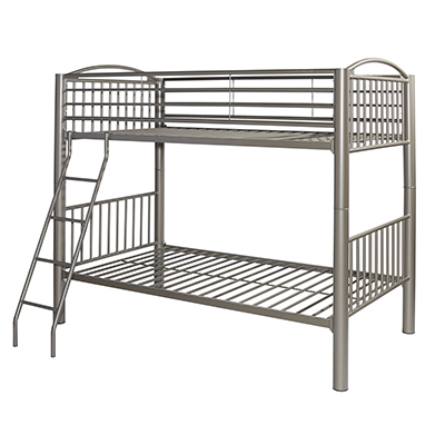 Heavy Metal Pewter Twin over Twin Bunkbed