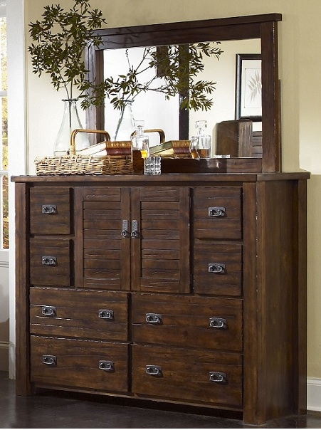 Rent Progressive Furniture Trestlewood Dresser & Mirror