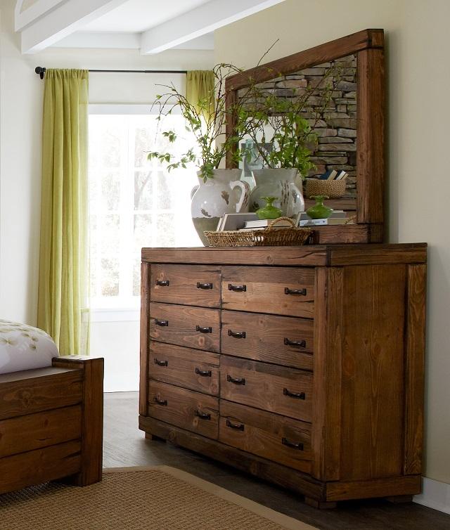wood dresser with mirror Rent Progressive Furniture Maverick Dresser & Mirror | Bedroom  wood dresser with mirror