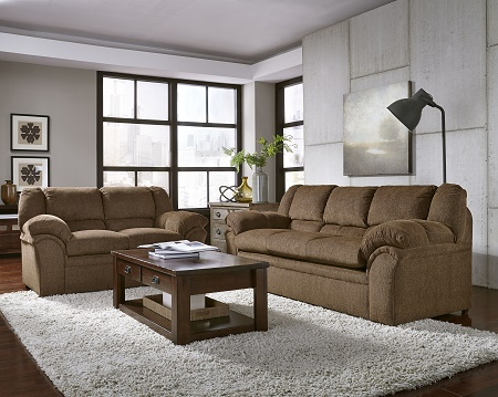 Big Ben Transitional Sofa And Loveseat