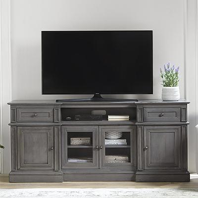 "Progressive Furniture Cloud Gray 72"" TV Stand"