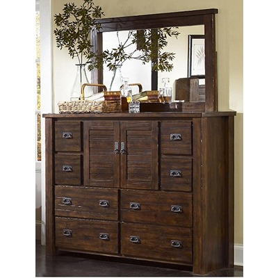 Progressive Furniture Trestlewood Dresser & Mirror