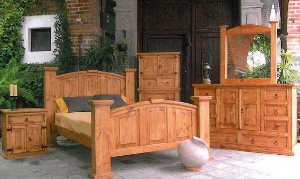 Million Dollar Rustic Mansion Queen Bed Dresser Mirror And Nightstand