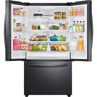 28CuFt French Door Refrigerator Black Stainless