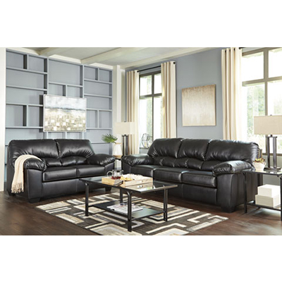 Benchcraft Brazoria Black Sofa & Loveseat