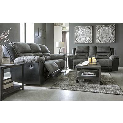Signature Design Earhart Slate Reclining Sofa & Loveseat