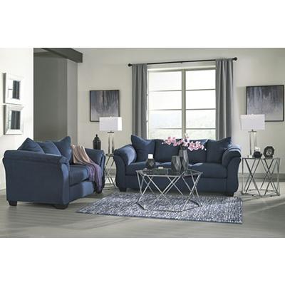 Signature Design Darcy Blue Sofa & Loveseat