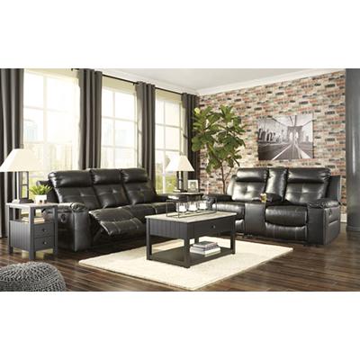 Kempton Black Reclining Sofa & Loveseat