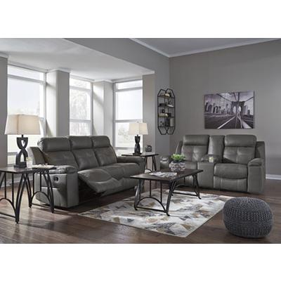 Signature Design Jesolo Gray Reclining Sofa & Loveseat