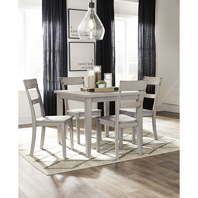 Signature Design Loratti Gray 4 Chair Dining Set