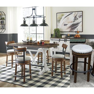 Signature Design Valeback Pub Table & 4 Stools