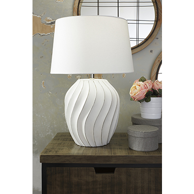 Hidago White Table Lamps(Pair)