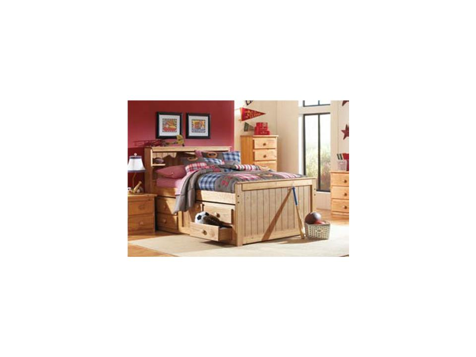 Simply Bunk Bed Twin Captain Bed With Drawers