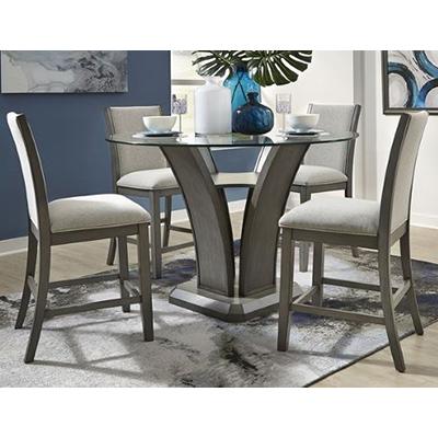 Zayden Grey Pub Table & 4 Chairs
