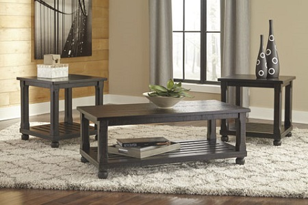 Signature Design Mallacar Black 3 Pack Tables