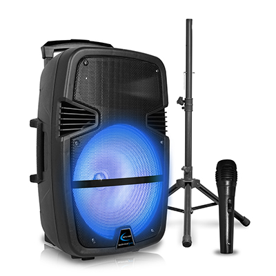 "Technical Pro 15"" Speaker, Tripod, Mic"