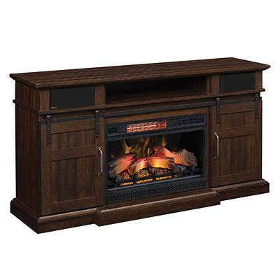 Twin Star Hemson TV Stand Fireplace w/ Sound