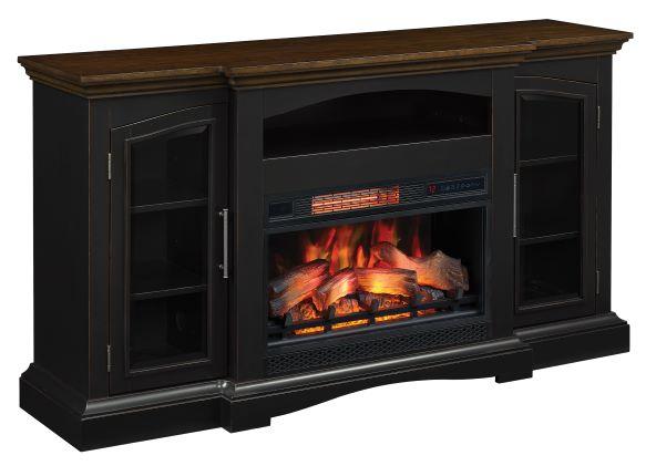 Girard Black Media Fireplace