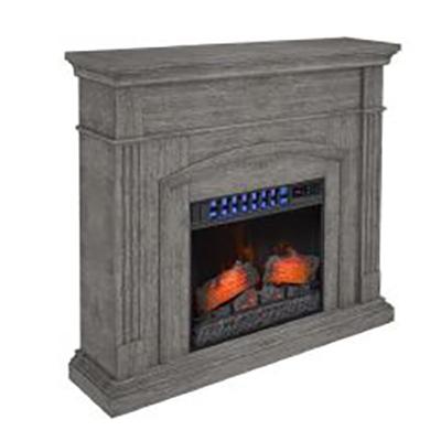 Cool Glow Heat & Cool Fireplace, Gray
