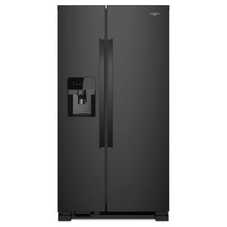 Whrilpool 33 in. 12.4 cu.ft. Side by Side Refrigerator-Black
