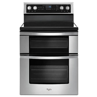 """Whirlpool 30"""" Smooth Top Double Oven Stainless"""