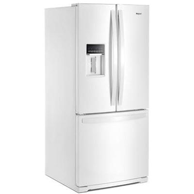 20 CuFt French Door Refrigerator, White
