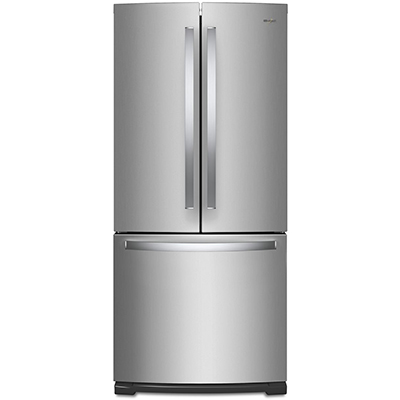 20 CuFt French Door Refrigerator, Stainless