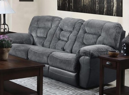 Simmons Darcy Charcoal Reclining Sofa