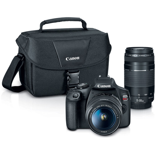 Canon EOS Rebel T7 DSLR Camera 2 Lens Bundle
