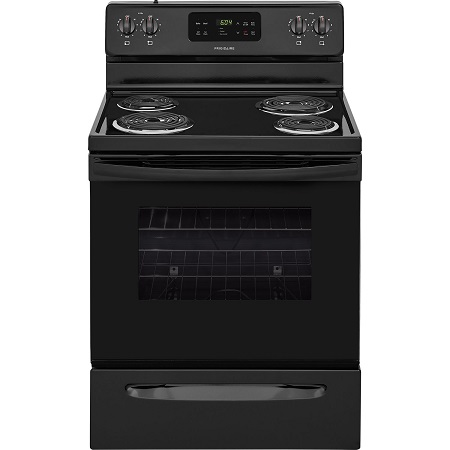 Electric Coil Top Range Black