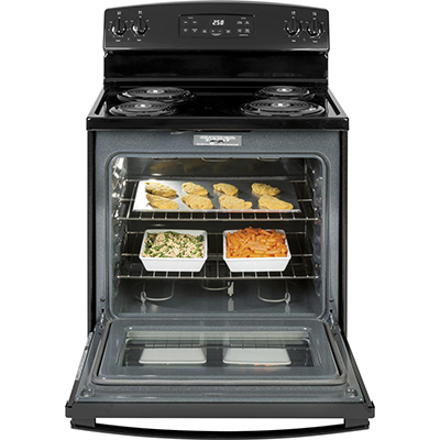 30 in. 5.3 cu. ft. CoilTop Electric Range Black