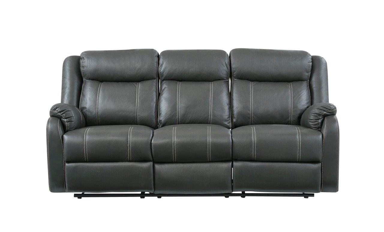 American Wholesale Furniture Reclining Sofa - Gin Rummy Charcoal